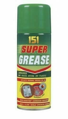 151 SUPER GREASE SPRAY AEROSOL LUBRICATE CAN OIL CORROSION RESISTANT